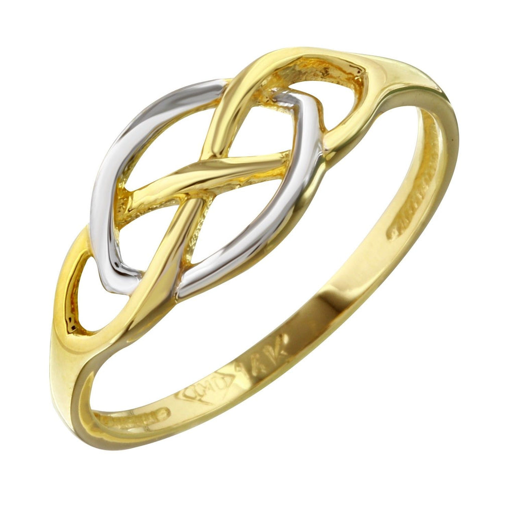 14k Two-Tone Gold Ring, Size 7