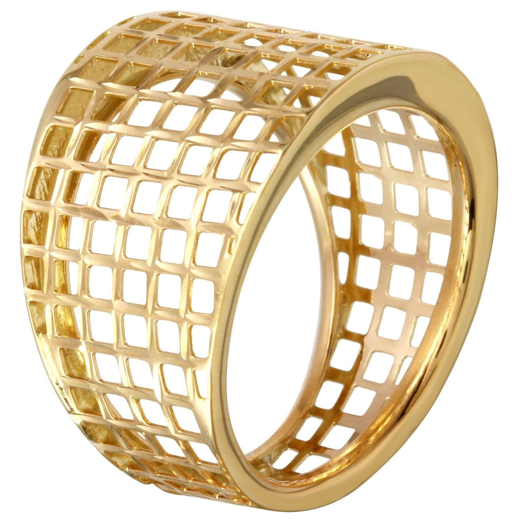 Women's 14k Yellow Gold Net Ring, Size 7