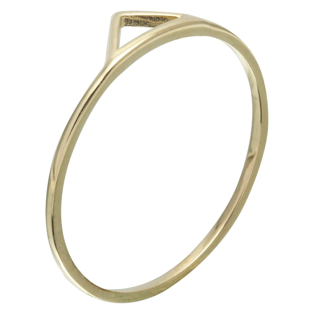 14k Yellow Gold Triangle Ring, Size 7