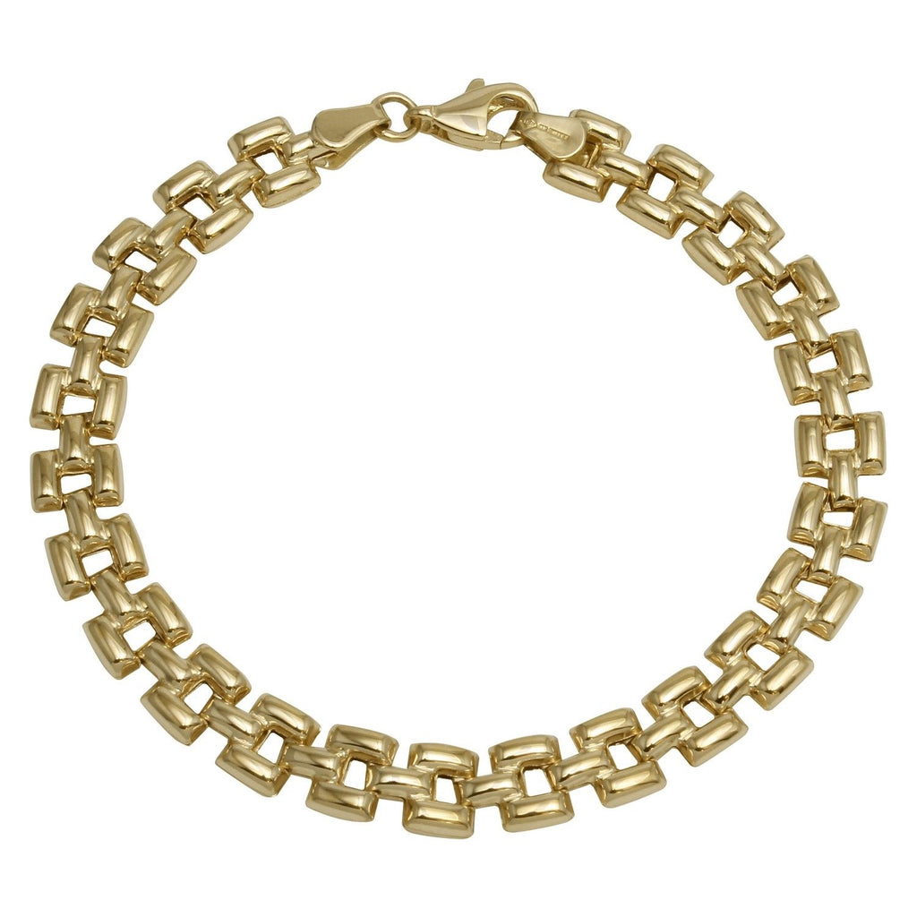 14k Yellow Gold High Polish Stampato Bracelet, 7.25""