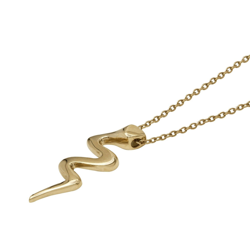"14k Yellow Gold Snake Rolo Chain Necklace, 16+2"" Extender"