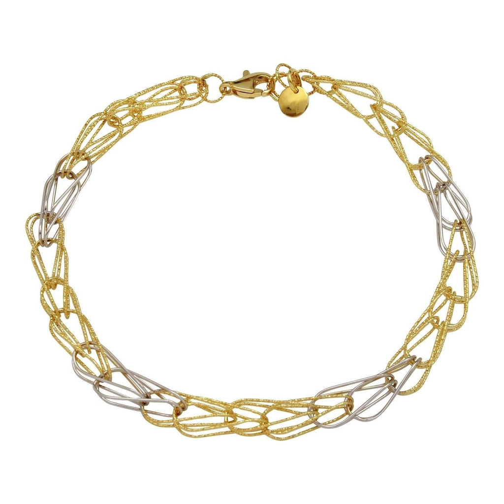 14k Two-Tone Filigree Bracelet, 7.75""