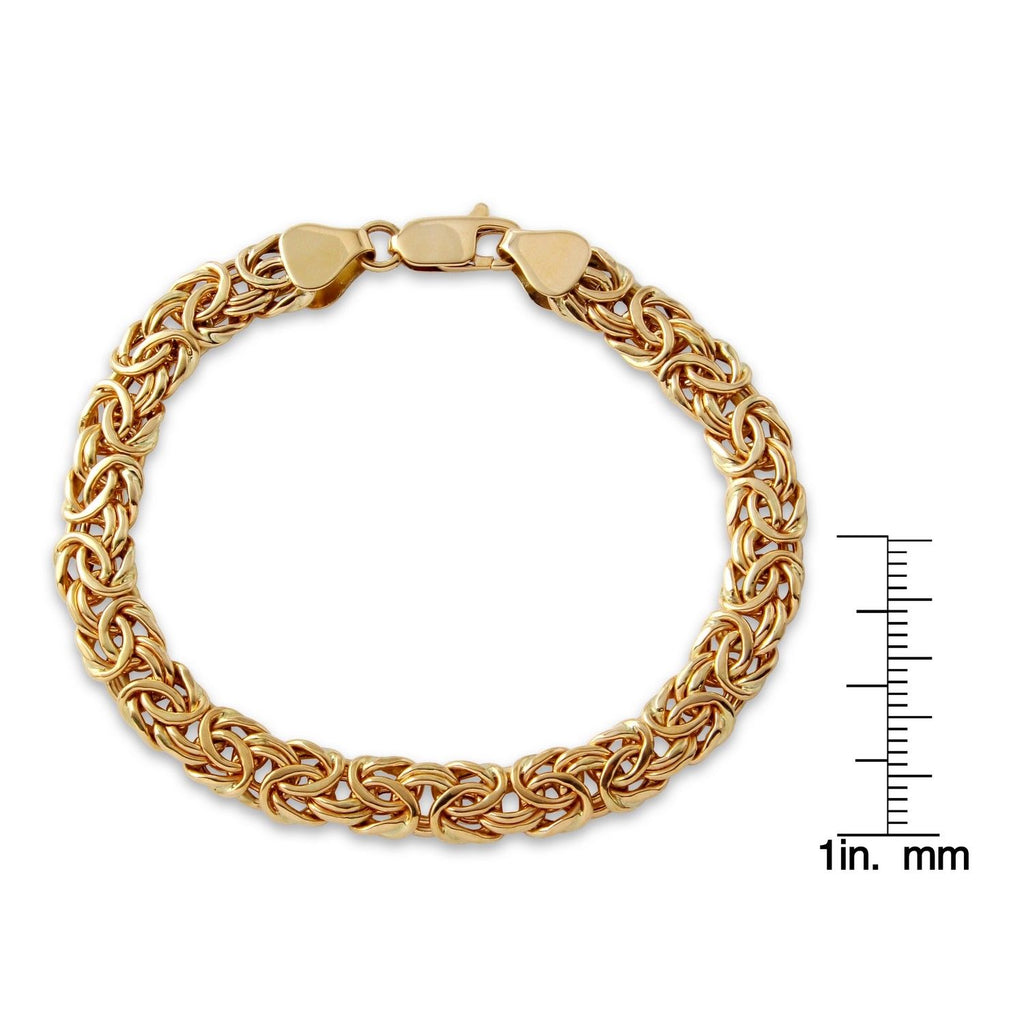 14k Yellow Gold Ladies' Byzantine Bracelet, 7.5""
