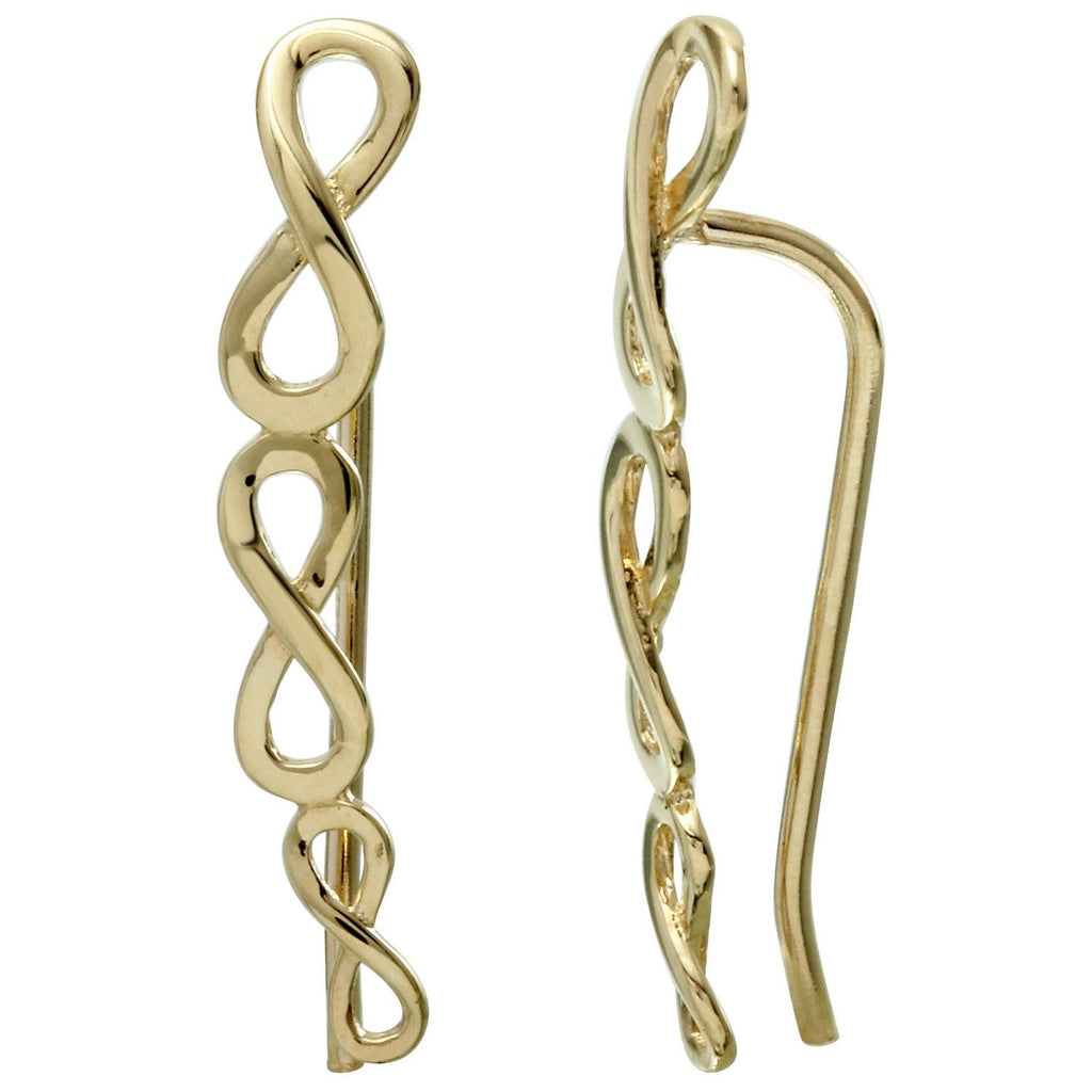 14k Yellow Gold Infinity Symbol French Hook Earrings