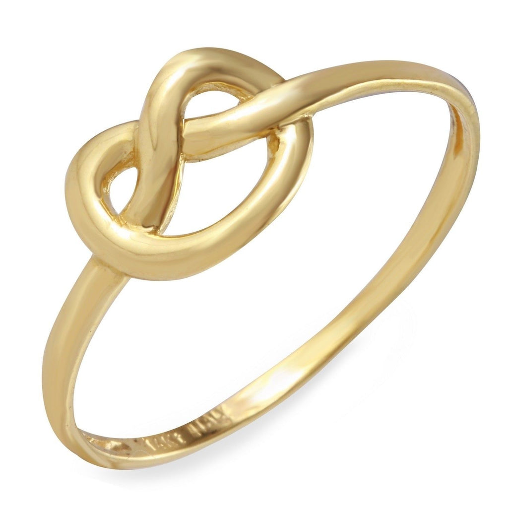14k Yellow Gold Italian Pretzel Ring, Size 7