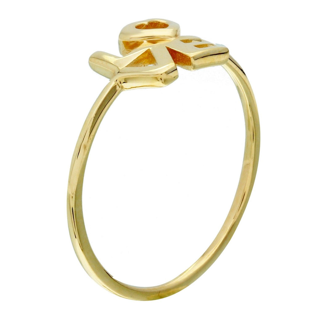 "14k Yellow Gold ""Love"" Ring, Size 7"