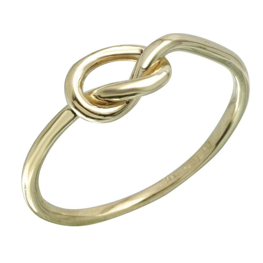 14k Italian Gold Love Knot Ring - Bee Jewels