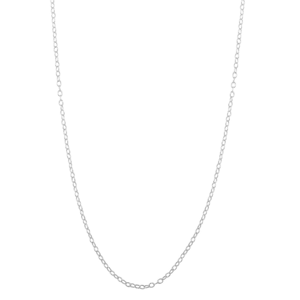 Men's Sterling Silver 1mm Cable Link Chain Necklace, 18""