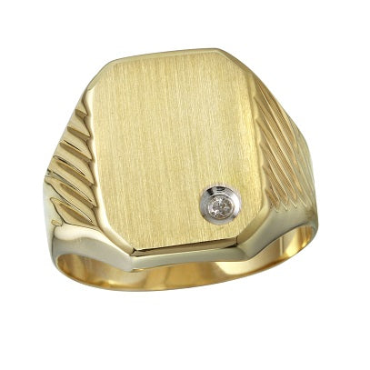 Men's 14k Yellow Gold Diamond Ring