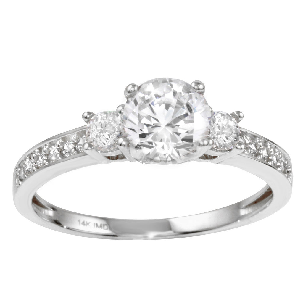 14k Gold CZ Engagement Ring