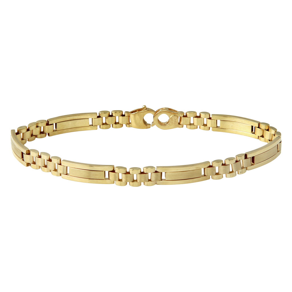 Men's 14k Yellow Gold Italian Classic Links Bracelet, 8.75""