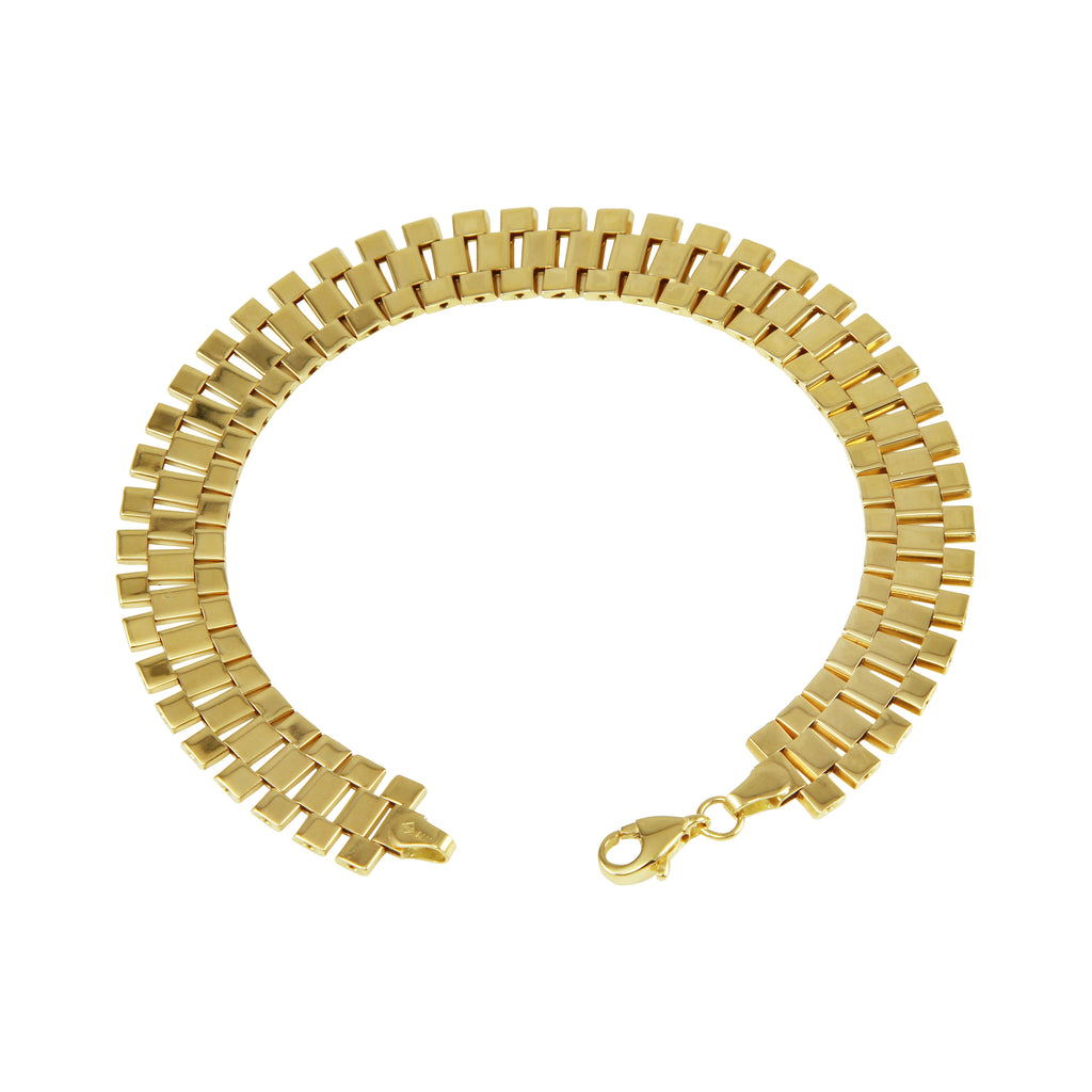 "14k Yellow Gold Cleopatra Link Bracelet, 8.25"" - Bee Jewels"