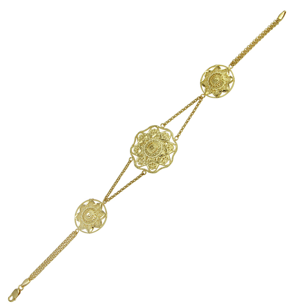 14k Yellow Gold Italian Bracelet, 7.75""