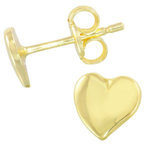 14k Yellow Gold Heart Baby Stud Earrings
