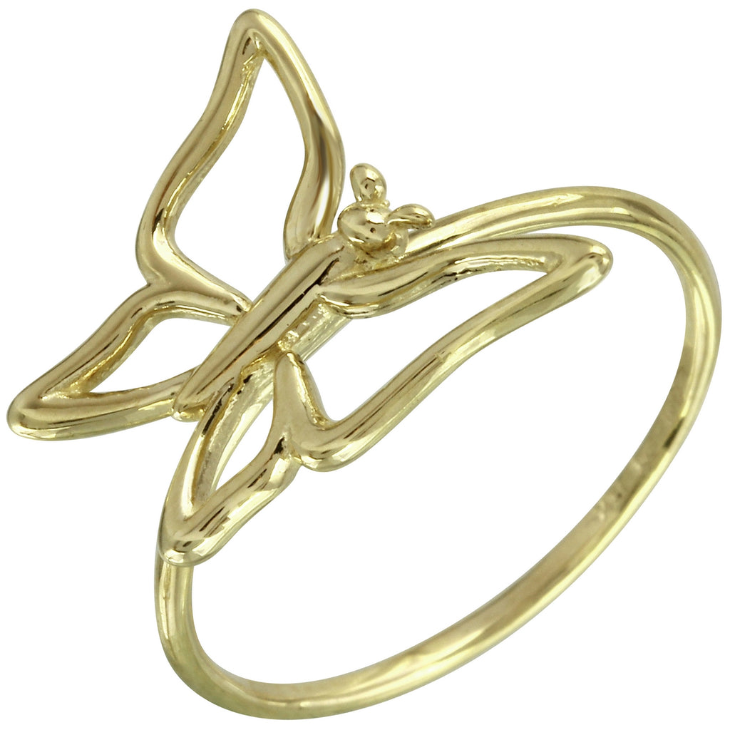 14k Italian Gold Butterfly Ring - Bee Jewels