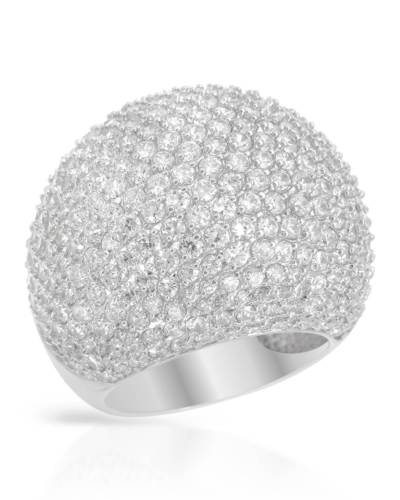 925 Pave CZ Women's Cocktail Ring