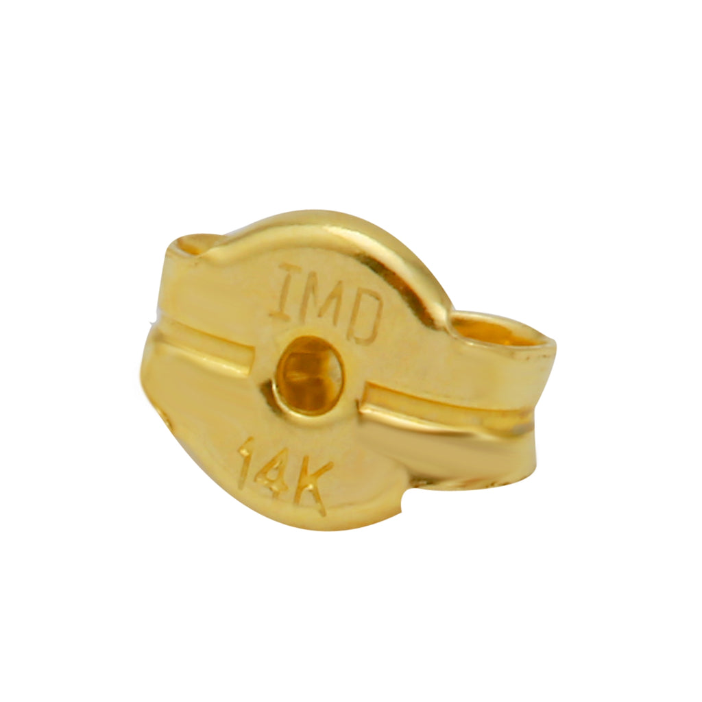 14k Yellow Gold Round Baby Stud Earrings