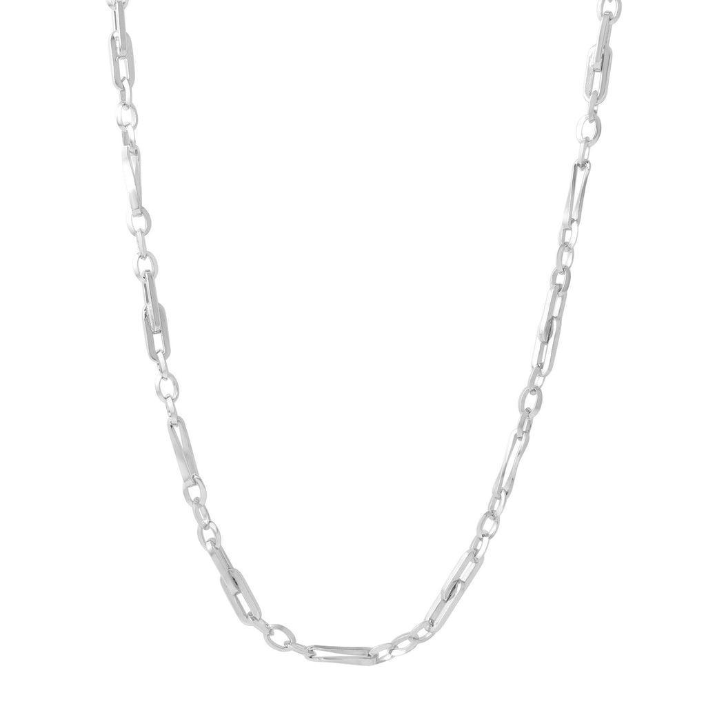 Men's Sterling Silver 2mm Link Chain Necklace, 24-28""