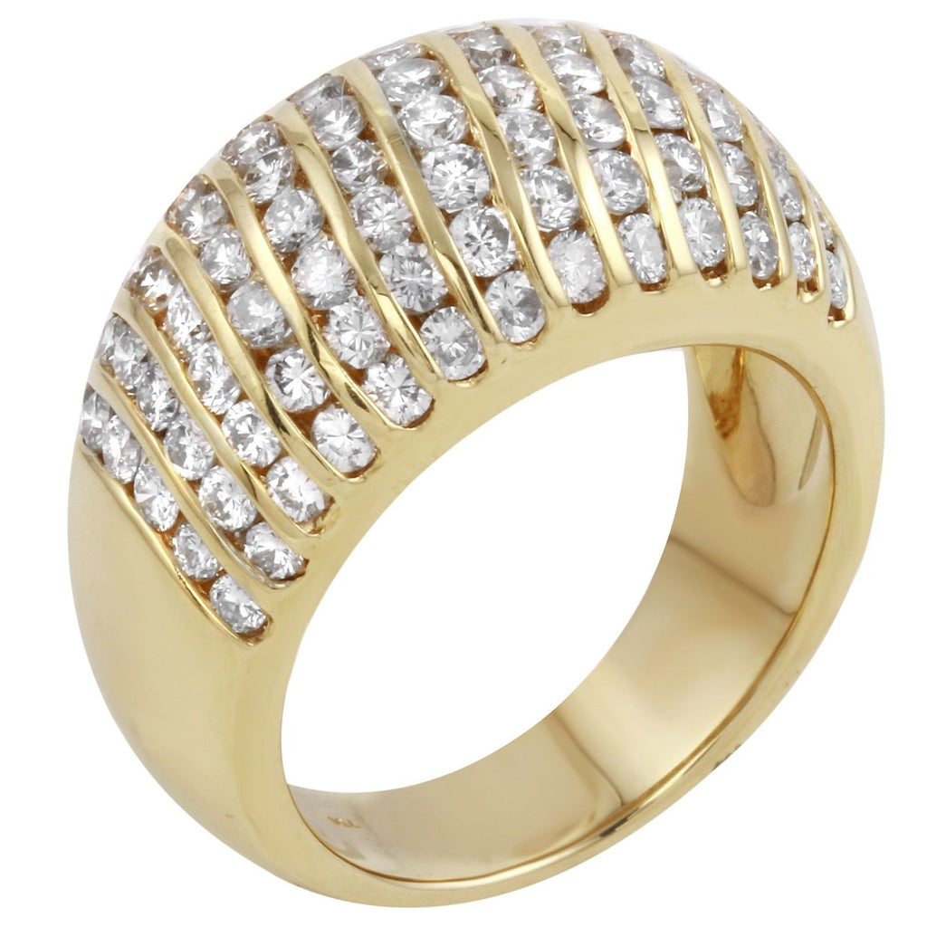 Women's Genuine 18k Yellow Gold Diamond Ring