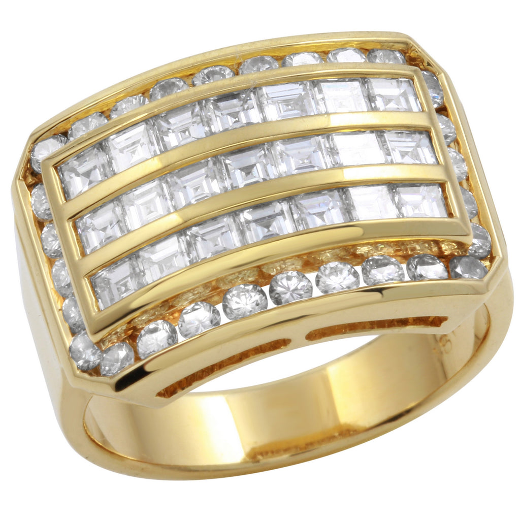 Women's 18k Yellow Gold Diamond Ring SIZE 6.75