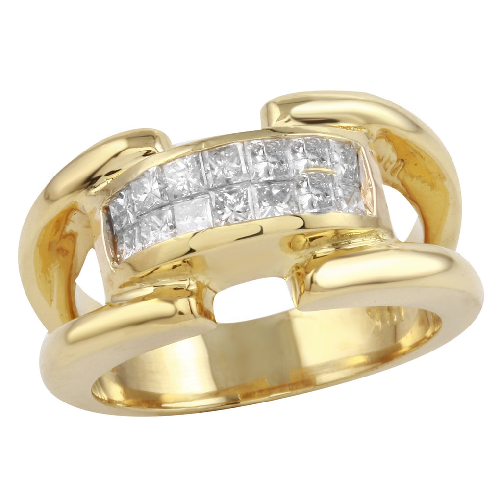Women's 18k Yellow Gold Diamond Ring SIZE 6