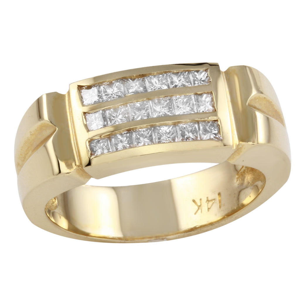 Women's 14k Yellow Gold Diamond Baguette Ring SIZE 7