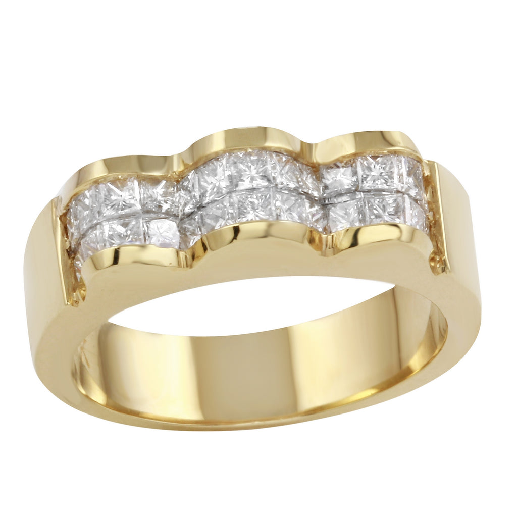 Women's 18k Yellow Gold Diamond Ring SIZE 6.25