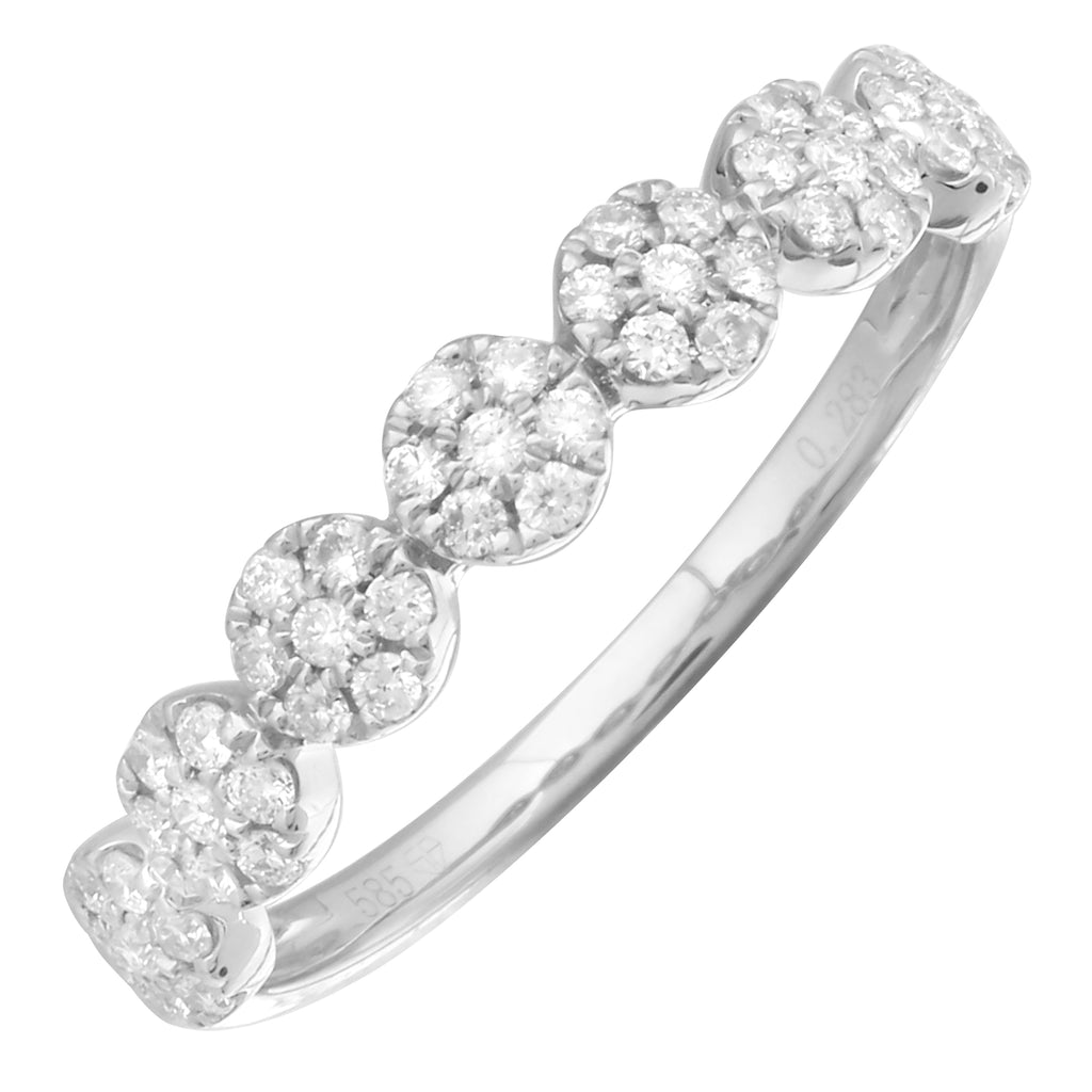 14k White Gold Diamond Endless Halo Ring (1/4 cttw, H-I Color, I1-I2 Clarity)