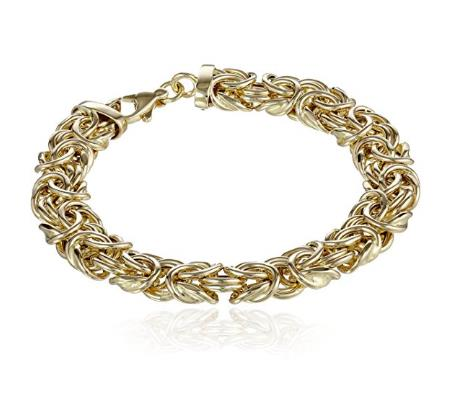 14k Yellow Gold Ladies' Byzantine Link Bracelet, 7.75""