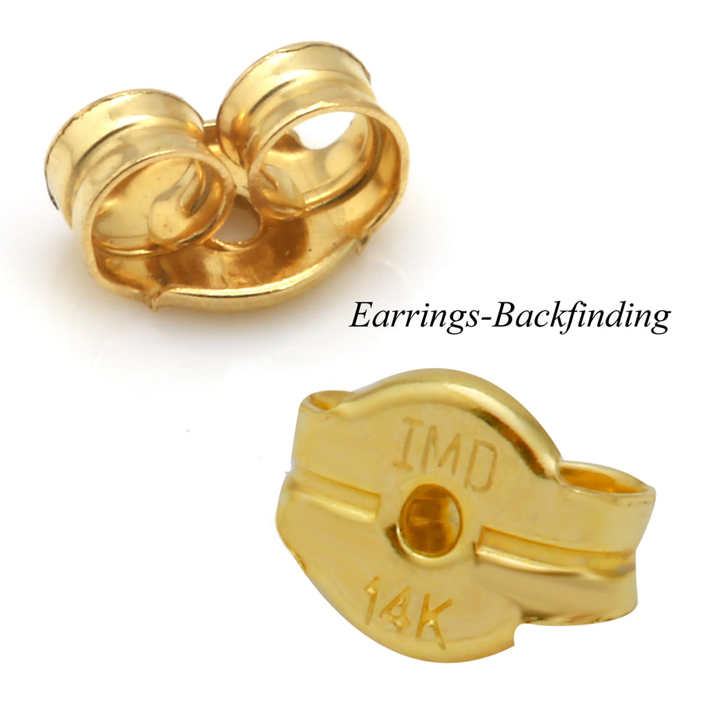 14k Yellow Gold Small Round Baby Stud Earrings