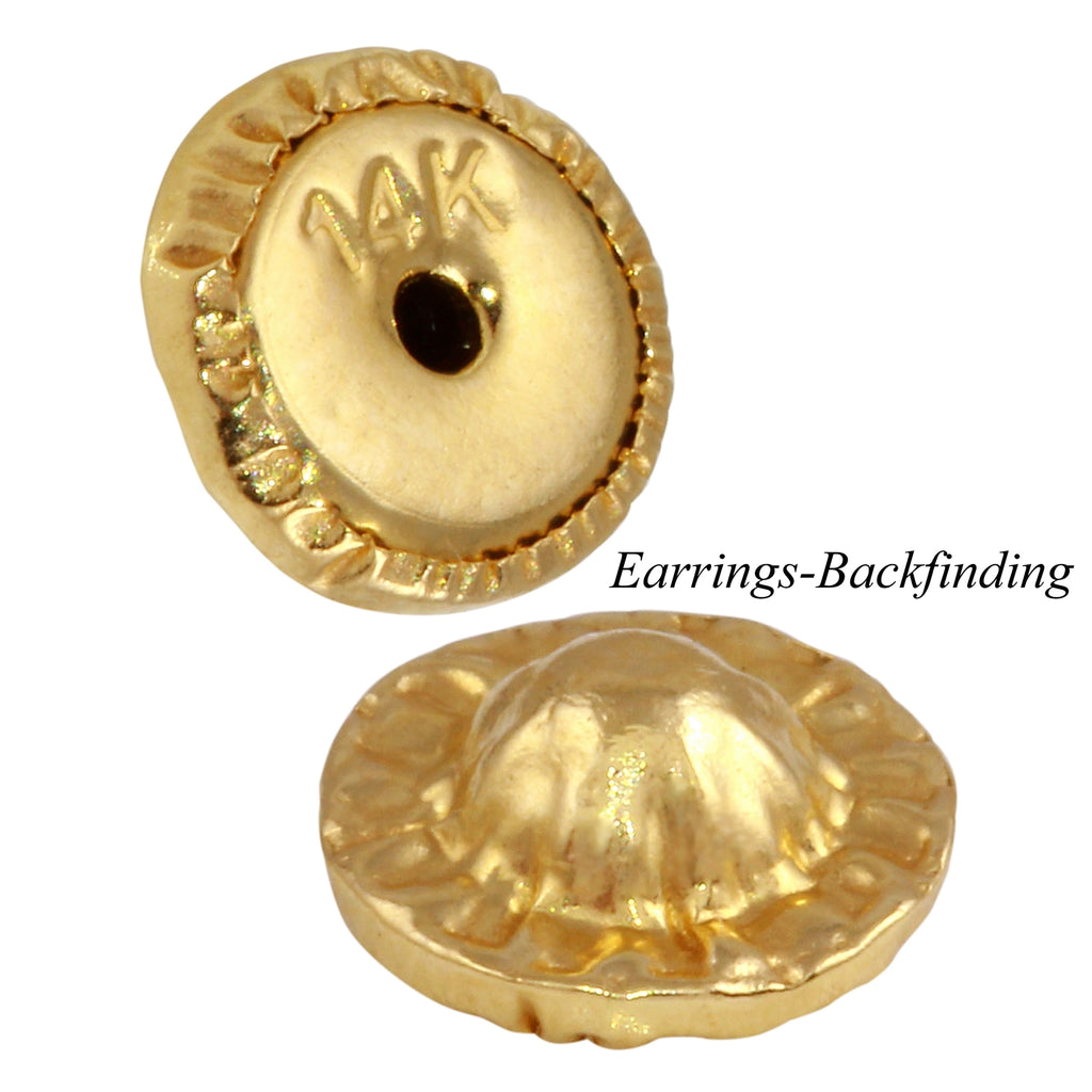 14k Yellow Gold Adventure Girl Baby Screw-Back Stud Earrings