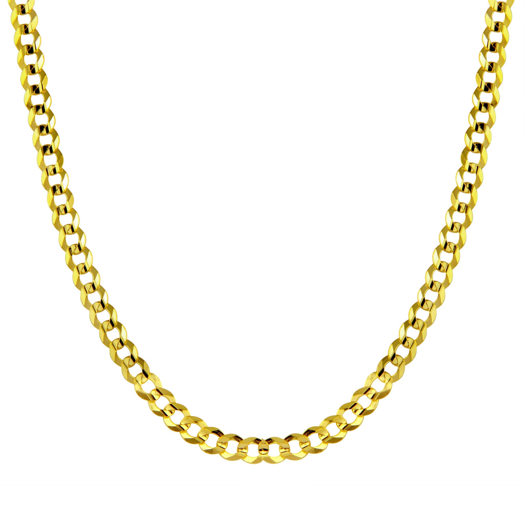 Men's 14k Yellow Gold 11.5mm Cuban Curb Light Chain Necklace, 22-30""