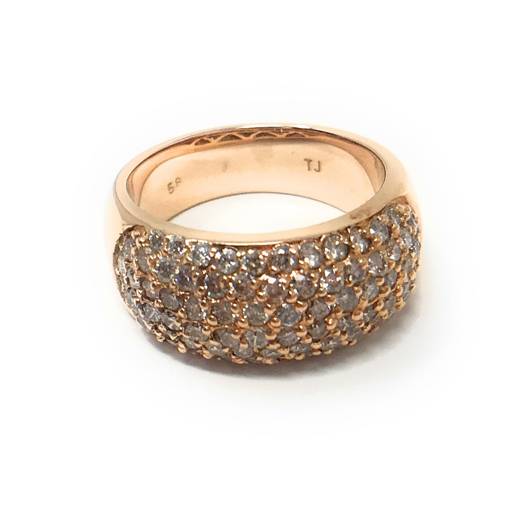14k Rose Gold Diamond Ring - Bee Jewels