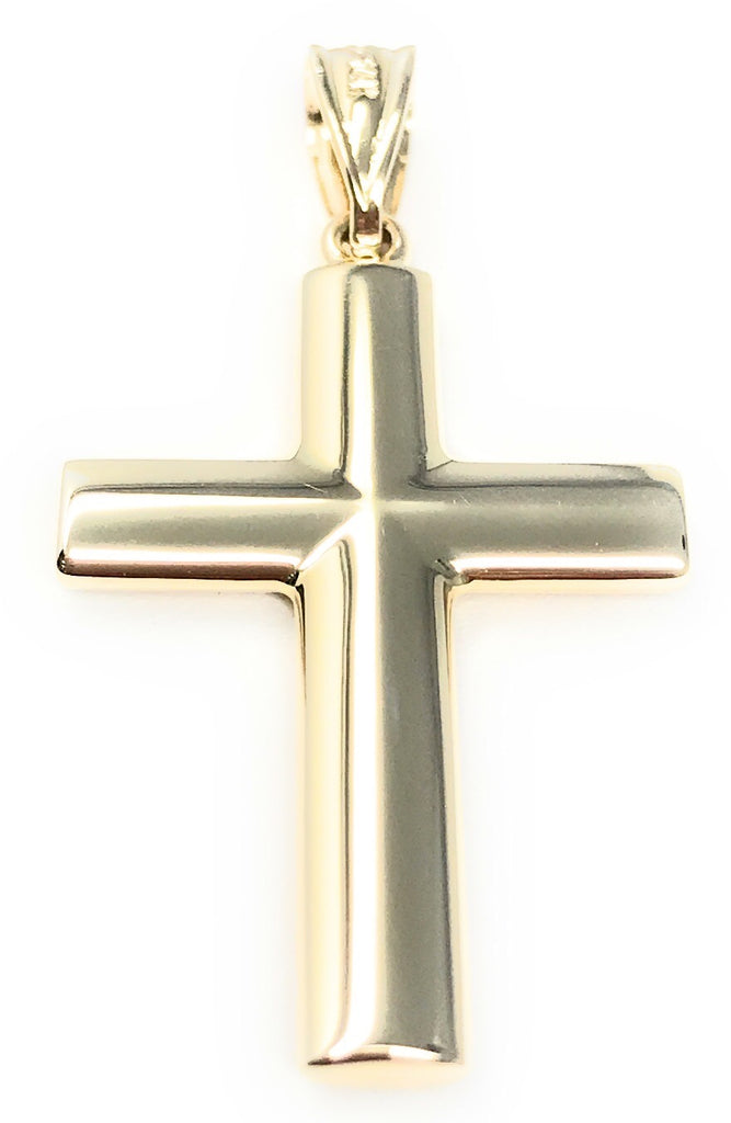 Bee Jewels His or Hers 14k Yellow Gold Cross Charm Pendant, 1.35""