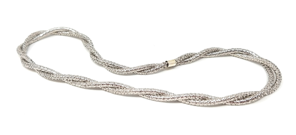 Sterling Silver Flexi-Mesh Double Strand Layering Necklace