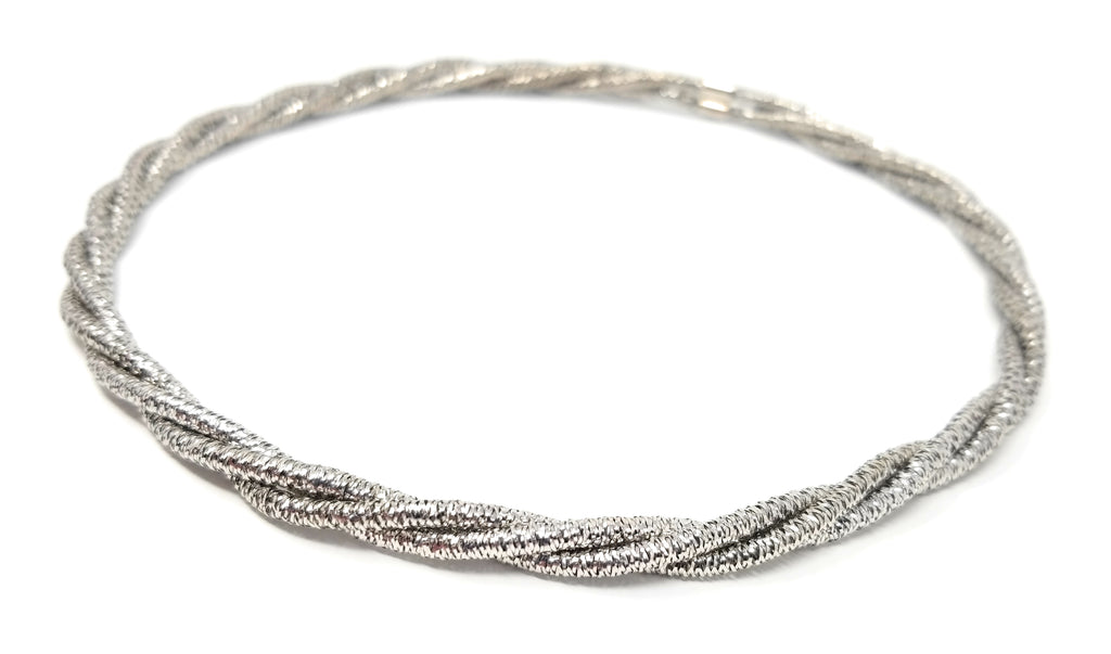 Sterling Silver Flexi-Mesh Triple Strand Layering Necklace