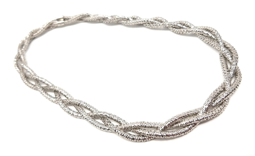 Sterling Silver Flexi-Mesh Triple Corded Layering Necklace