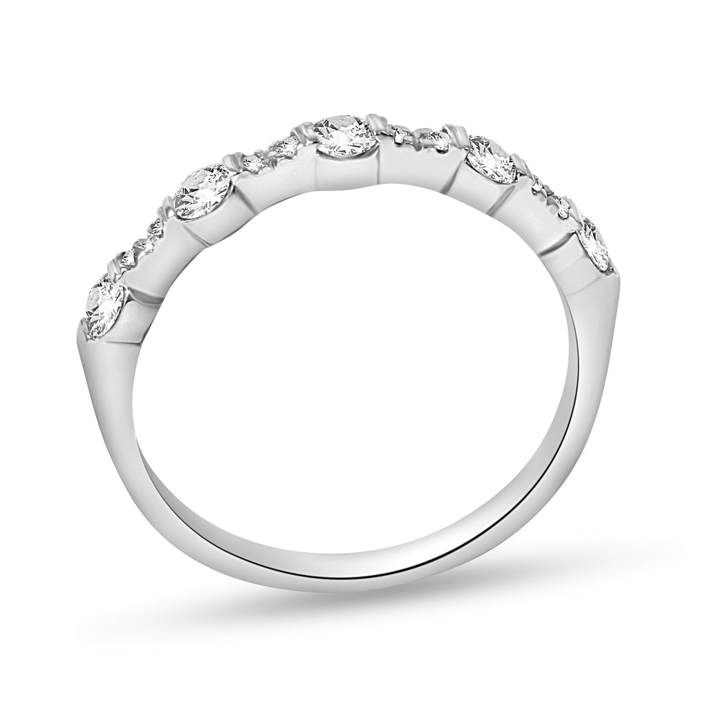 14k White Gold Diamond Wedding Engagement Ring