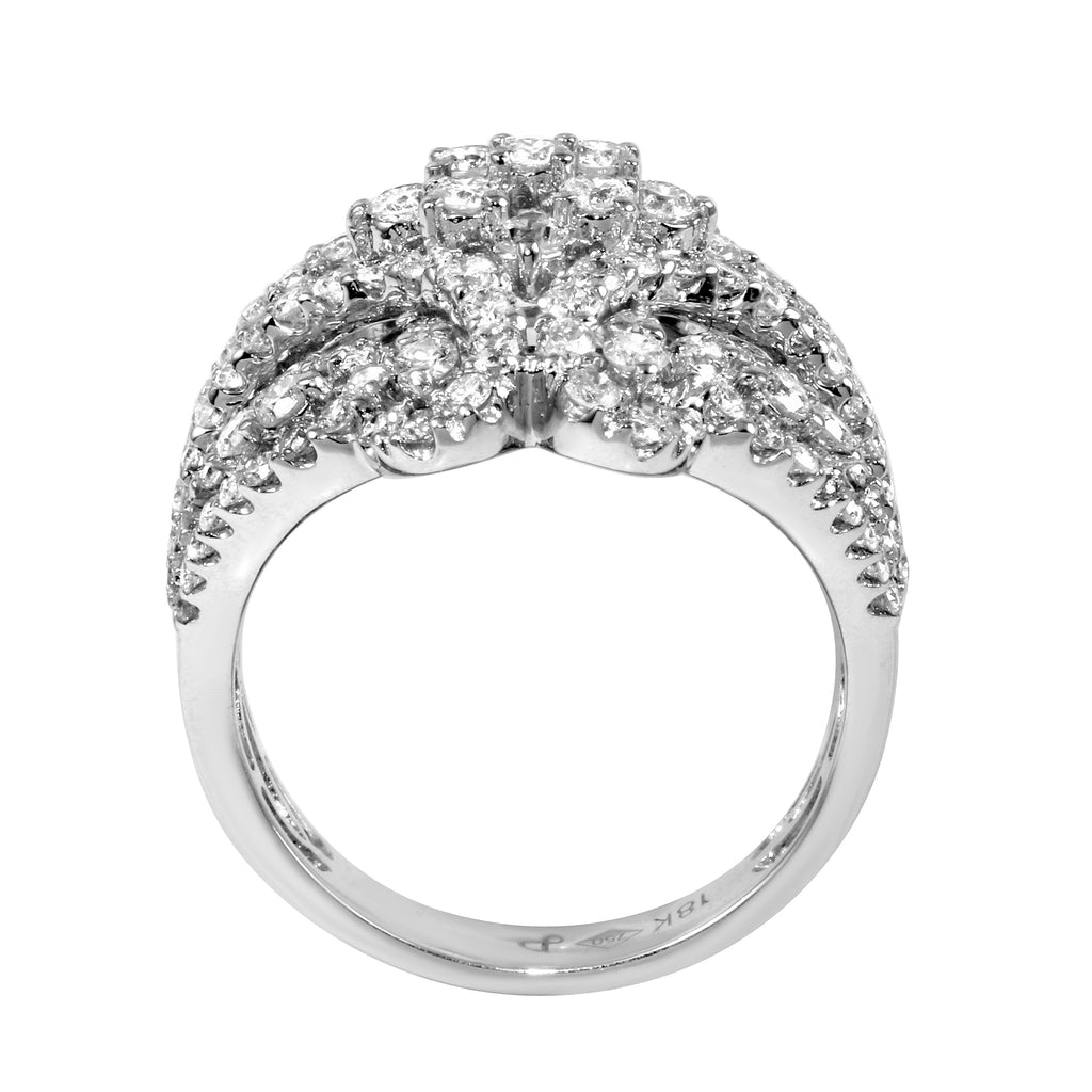 18k White Gold Diamond Wedding Engagement Ring SIZE 7