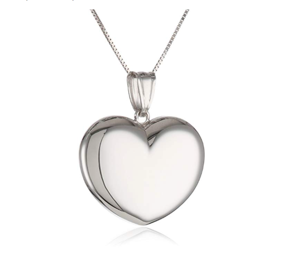 "14k Gold Heart Puffy Pendant Necklace, 18"" - Bee Jewels"