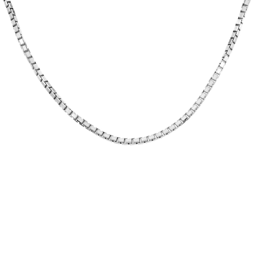 Women's 14k White Gold 1.0mm Box Chain Necklace
