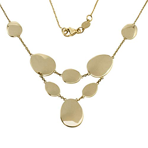 "Bee Jewels Women's 14k Yellow Gold Italian Strand Necklace, 16+4"" Extender"