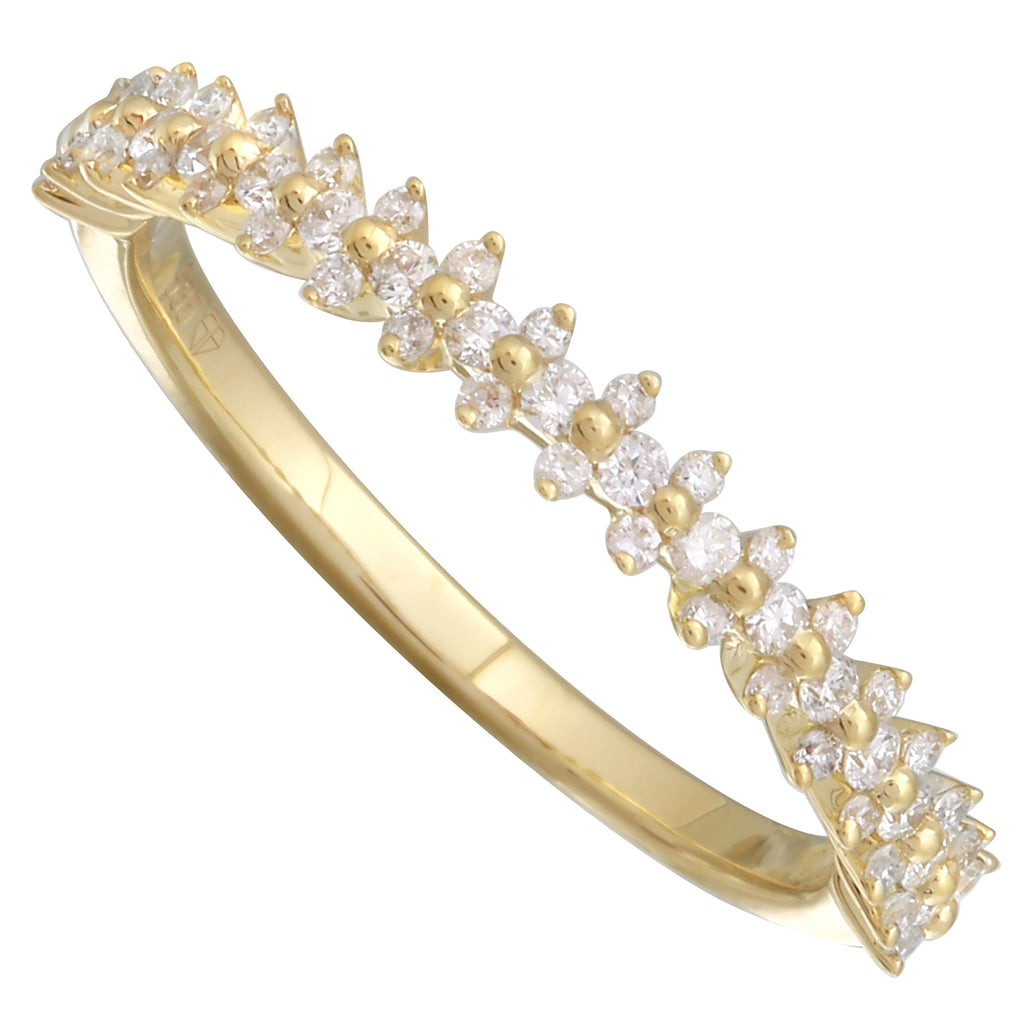 14k Yellow Gold Diamond Accent Band Ring (1/4 cttw, H-I Color, I1-I2 Clarity)