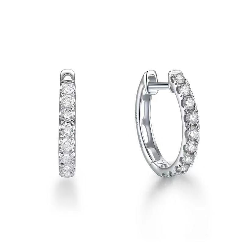 REEMARK™ 18k White Gold Diamond Hoop Earrings (1/2 cttw, I-J Color, I1-I2 Clarity), 13.5mm Diameter