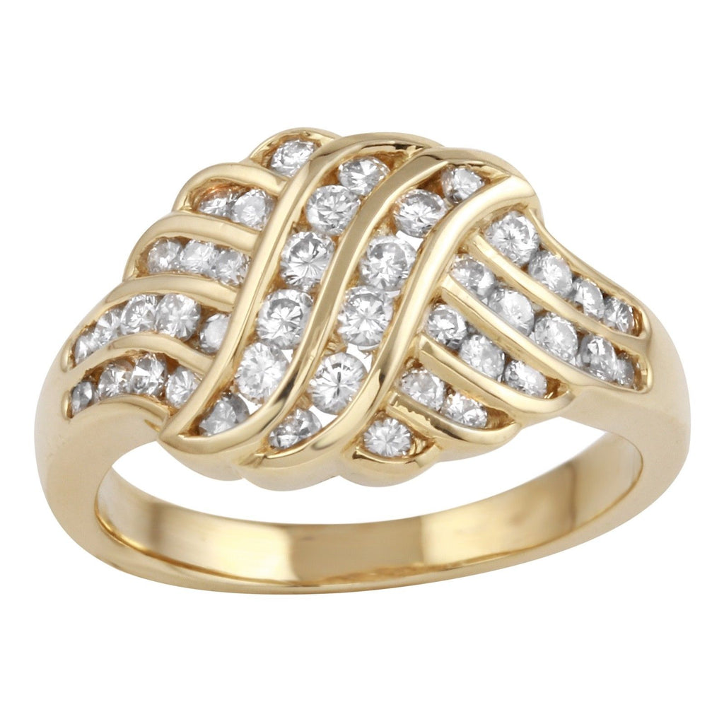 Womens Diamond 18k Yellow Gold Ring