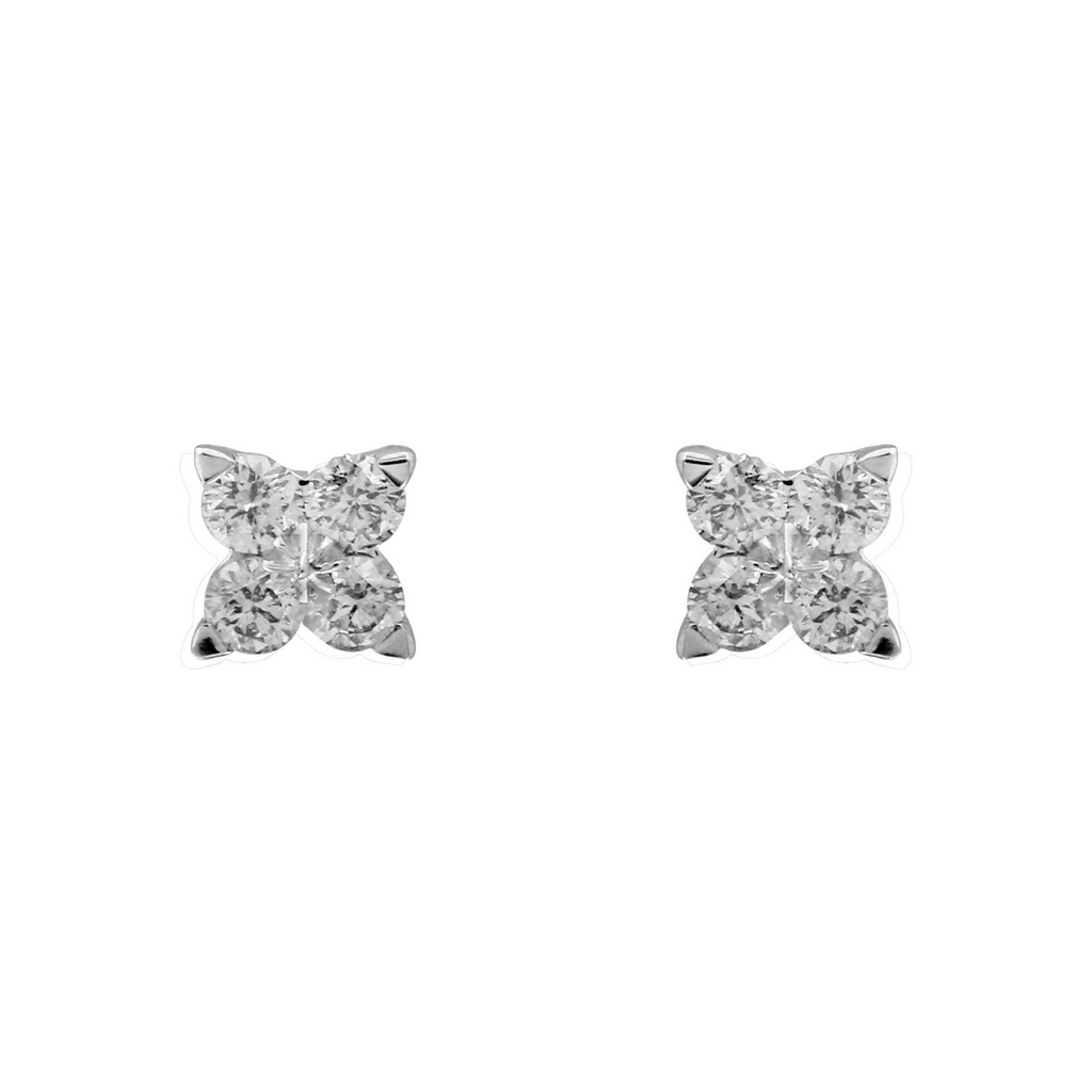 14k White Gold Diamond Twinkle Stud Earrings (1/5 cttw, H-I Color, I1-I2 Clarity)