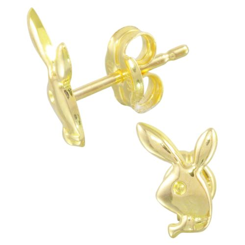 Bunny 14k Yellow Gold Baby Earrings