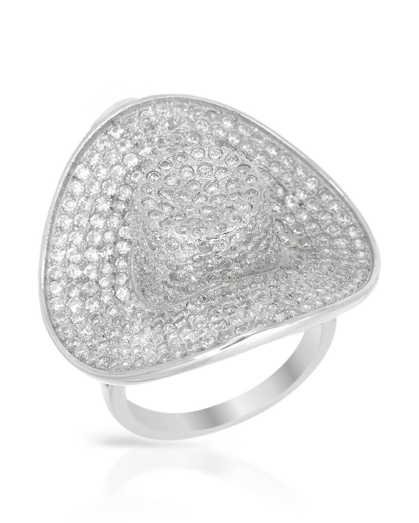 Riding Hat Cowgirl Ring CZ Sterling Silver