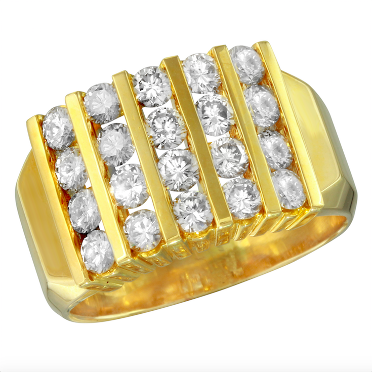 Womens Ring Diamonds 18k Yellow Gold