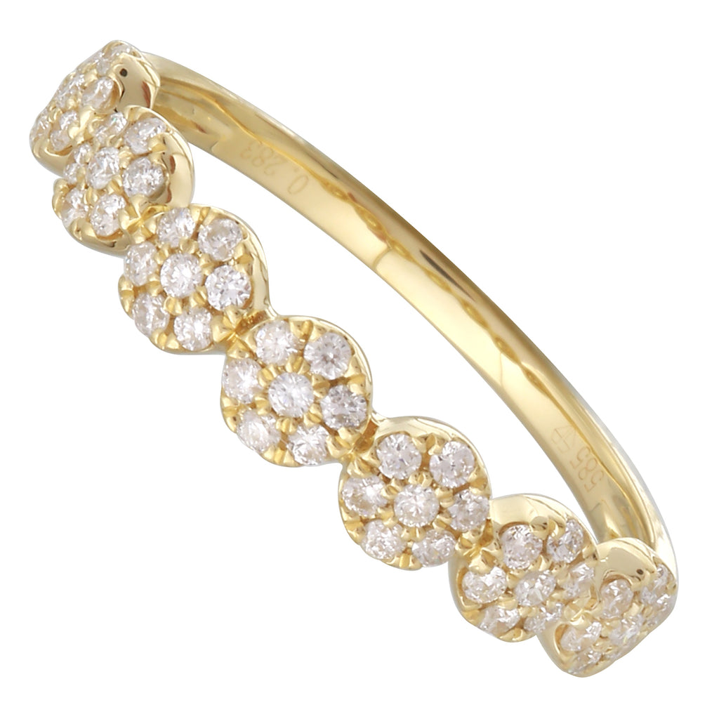 14k Yellow Gold Diamond Endless Halo Ring (1/4 cttw, H-I Color, I1-I2 Clarity)